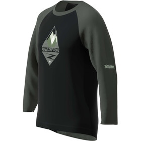 Zimtstern PureFlowz 3/4 Shirt Men pirate black/gun metal/fog green